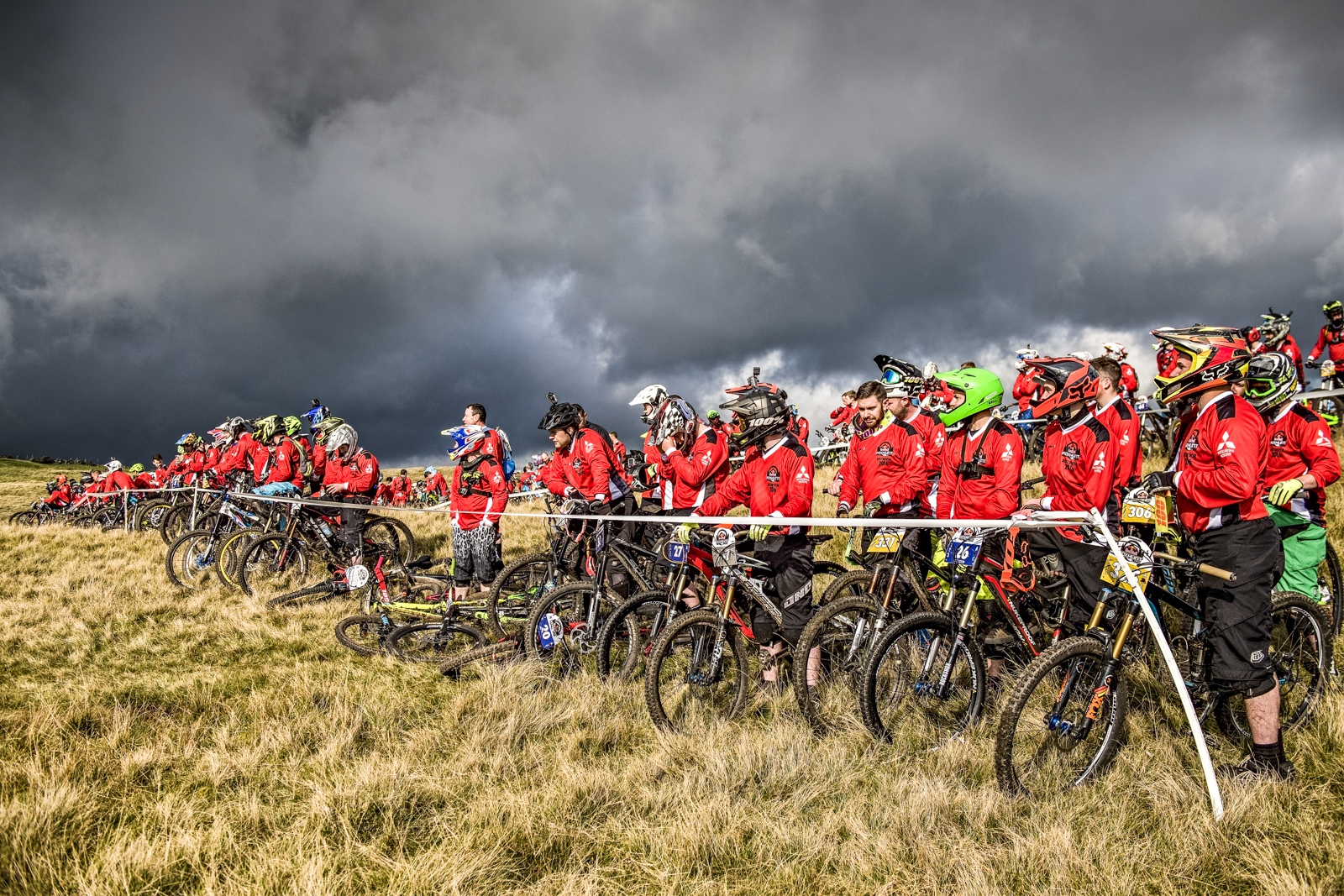 The skies were ominious as riders lined up but the weather played nice. Photo - Sebastian Marko