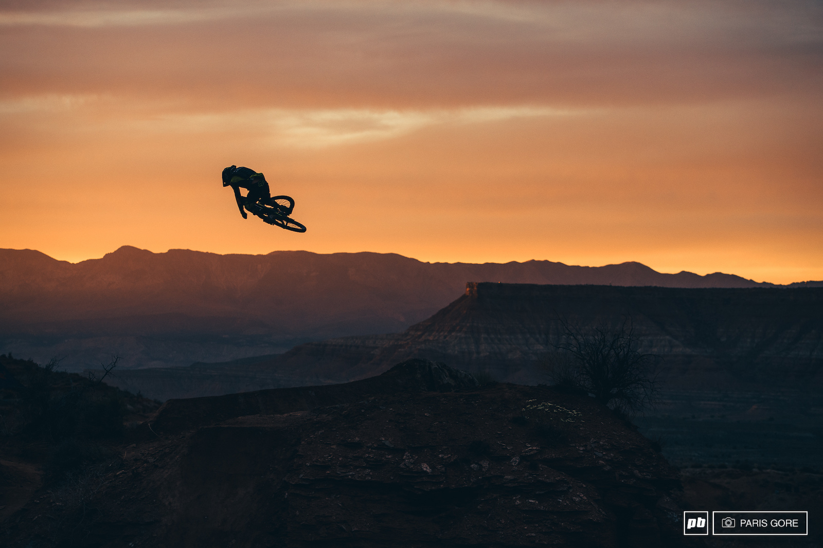 T-Mac sessioning his hip in the glowing last light over Zion.