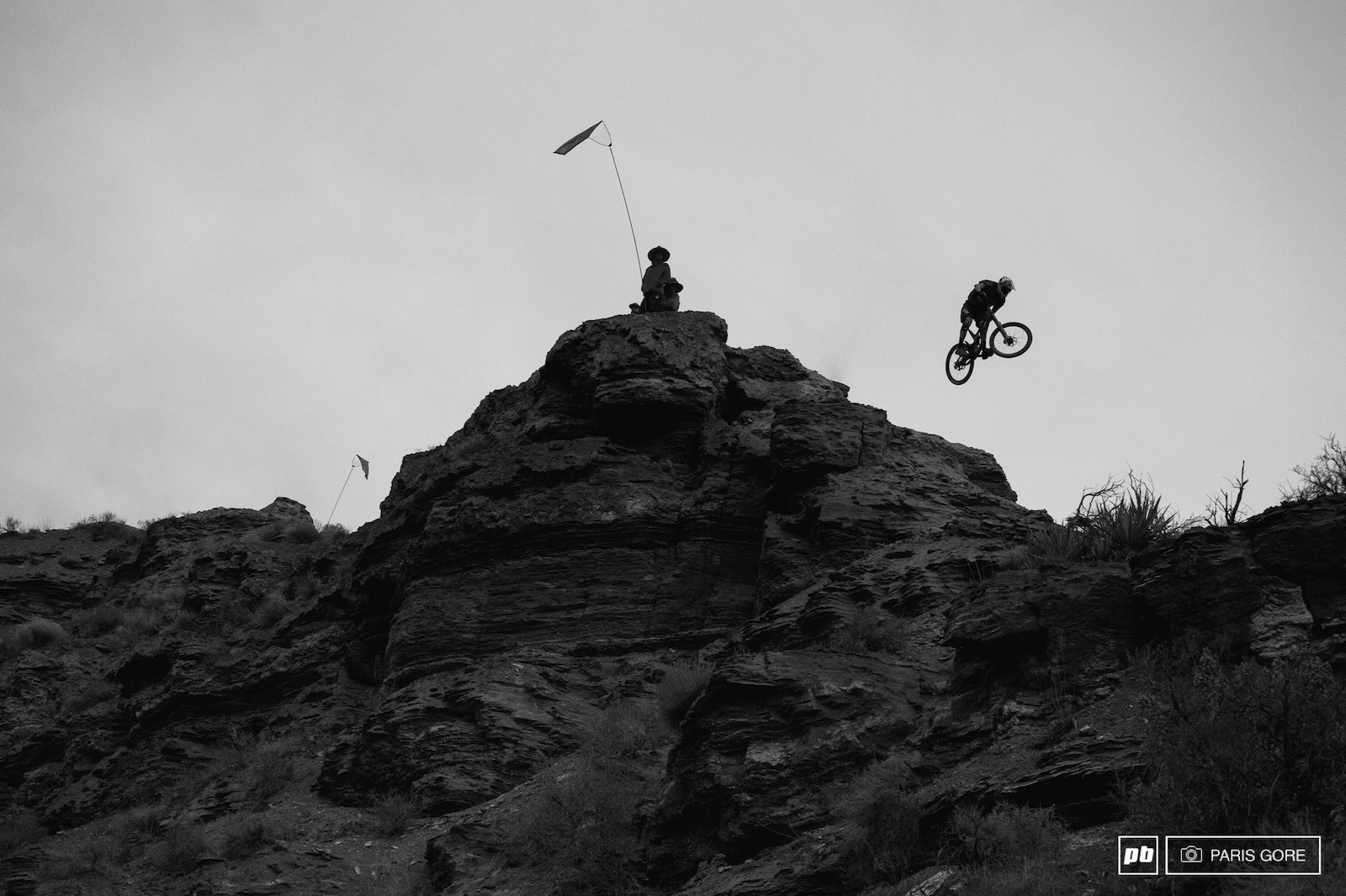Tomas Genon ripping down the middle ridge during the last light.