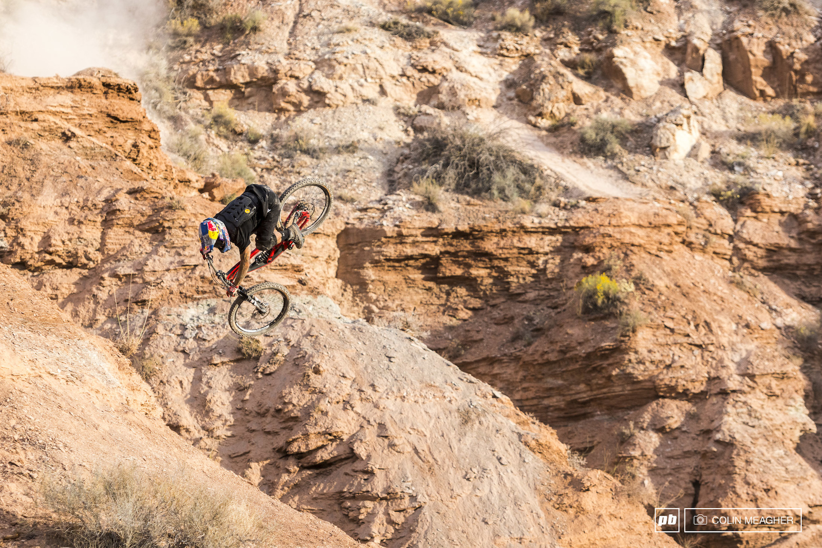 practicing the for the 2016 Redbull Rampage held outside of Virgin UT
