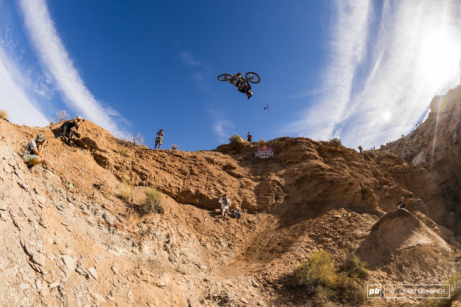 Despite a gnarly rag doll on his eject Semenuk stepped it up and sent it a few minutes later with a flat spin 3.