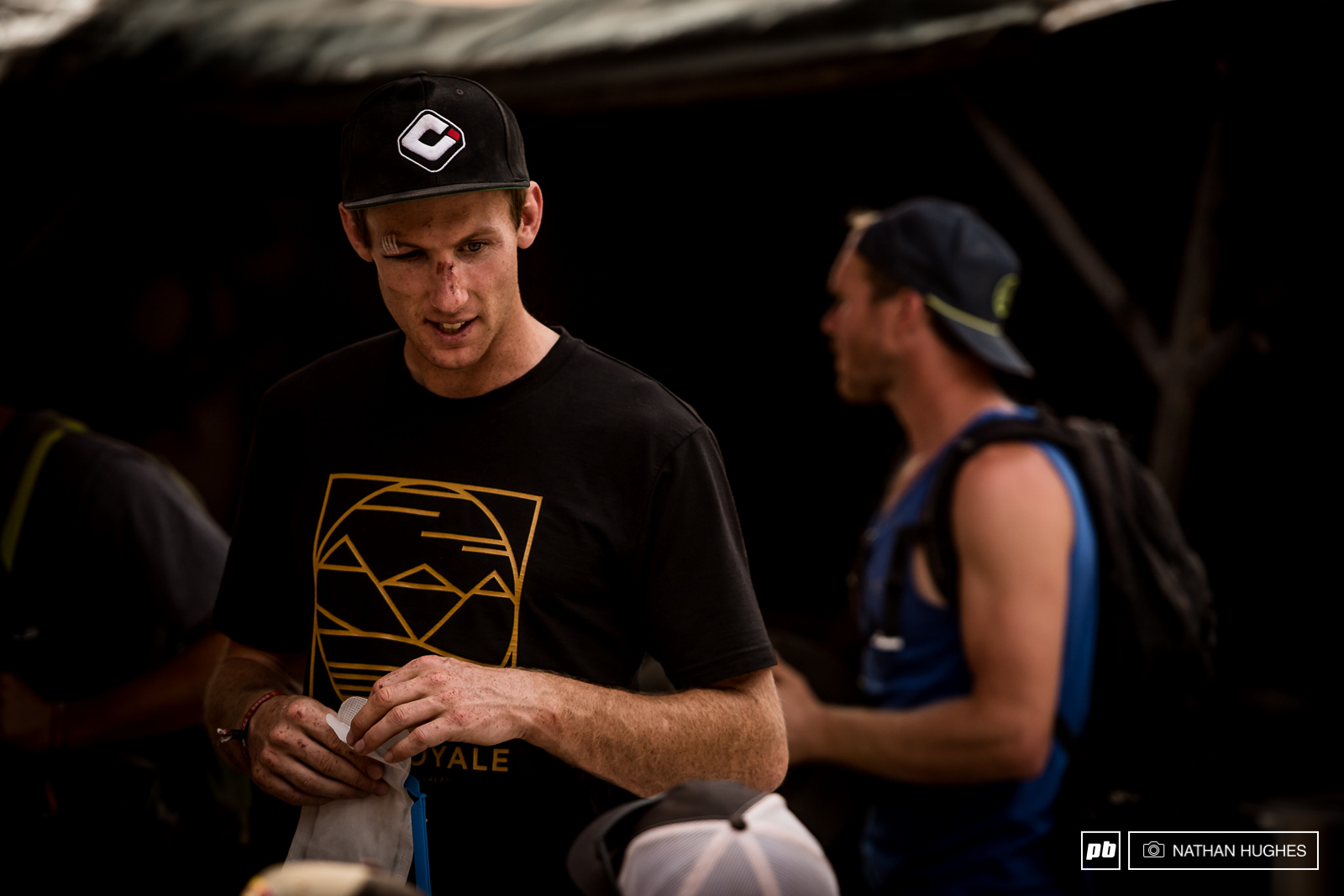 This year Kiwi Conor McFarlane came to Rampage to rip out throats but yesterday s guinea-pigging took it s toll. His line has some of the most appalling gaps that even the likes of Lacondeguy said they d refuse to ride.