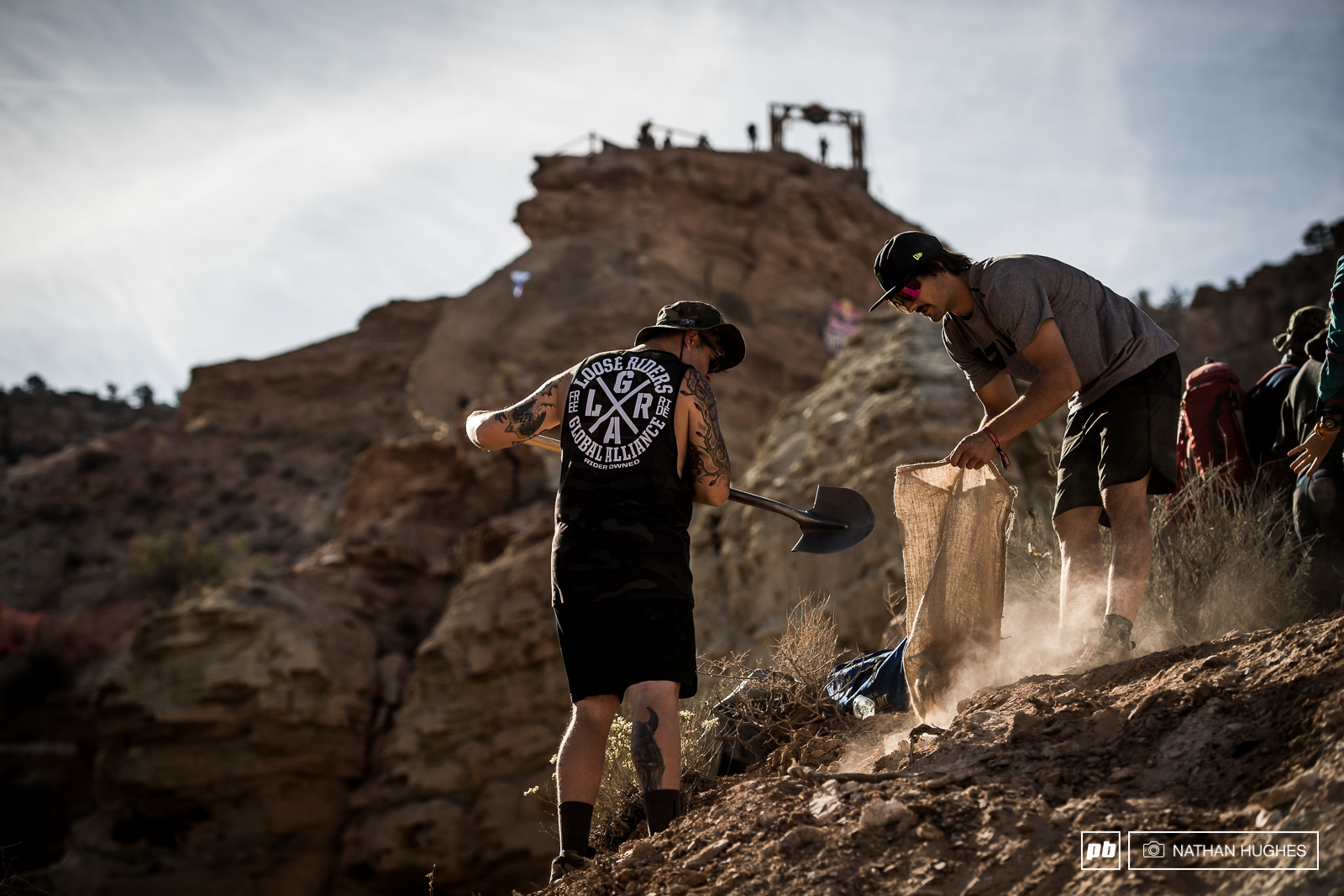 One of the two Great British hopes at Rampage Sam Reynolds with a long day of hard labour ahead of him.