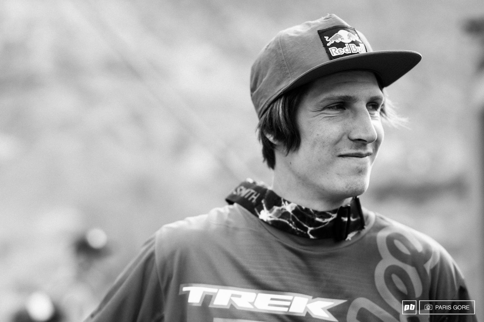 Brandon Semenuk all smiles.