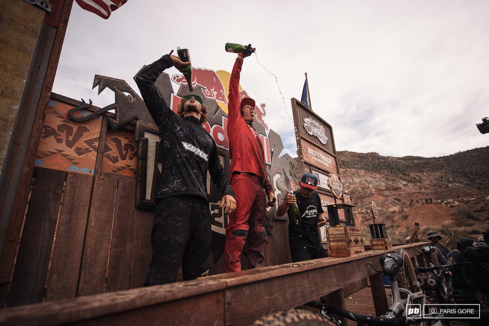 Winners. Antoine Bizet Brandon Semenuk Carson Storch