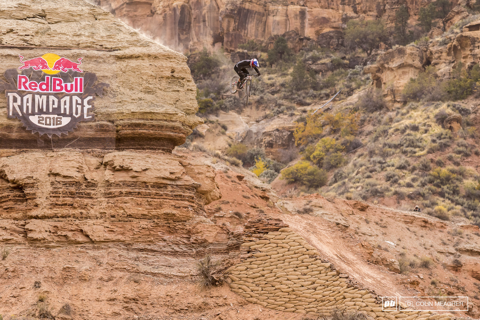Falling from the sky step one enter the Redbull Rampage. Step two build a ridiculous line. Step three SEND IT Carson Storch falling into third place.