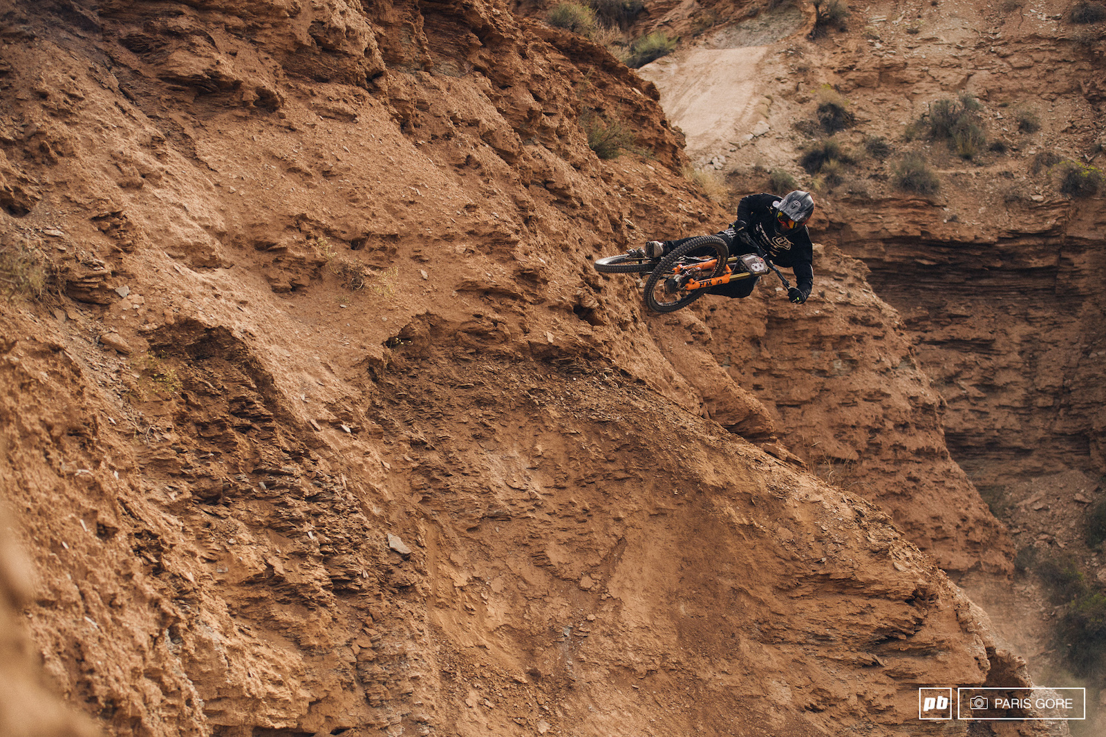 Tom Van Steenbergen blasted into this wall yesterday and had a great run today but not enough to earn a top spot.
