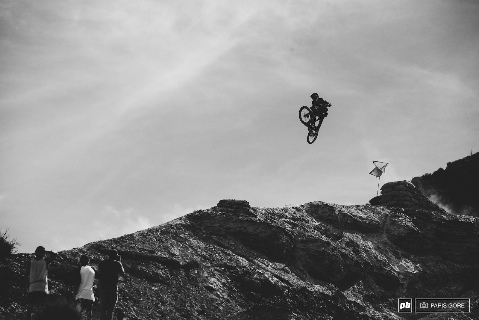Connor McFarlane boosting off the top ridge and what looked like a killer run.