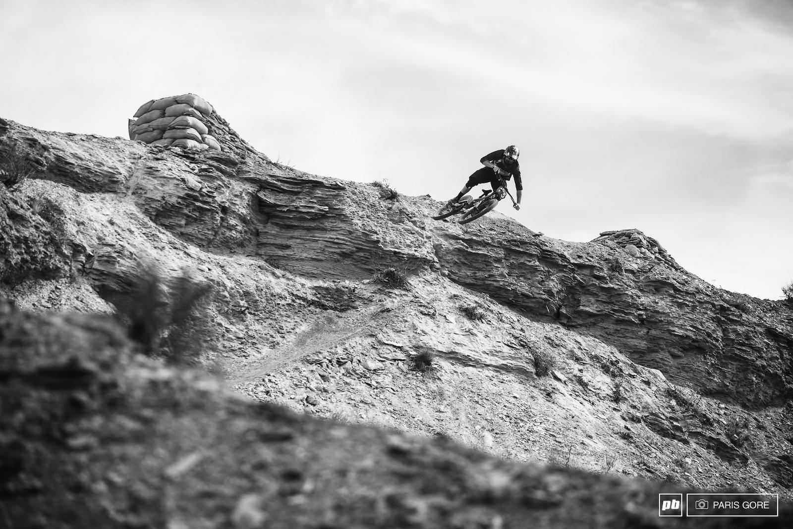 Kyle Norbraten floating off the top ridge.