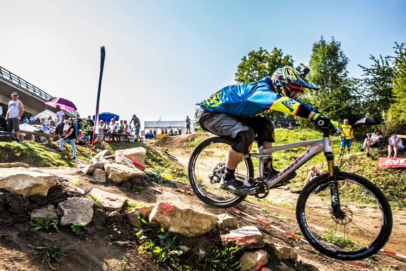 Jonas Gauss takes his first victory 2 days after the world championship race in Val di Sole on his local track - Photographer J rgen Albrecht