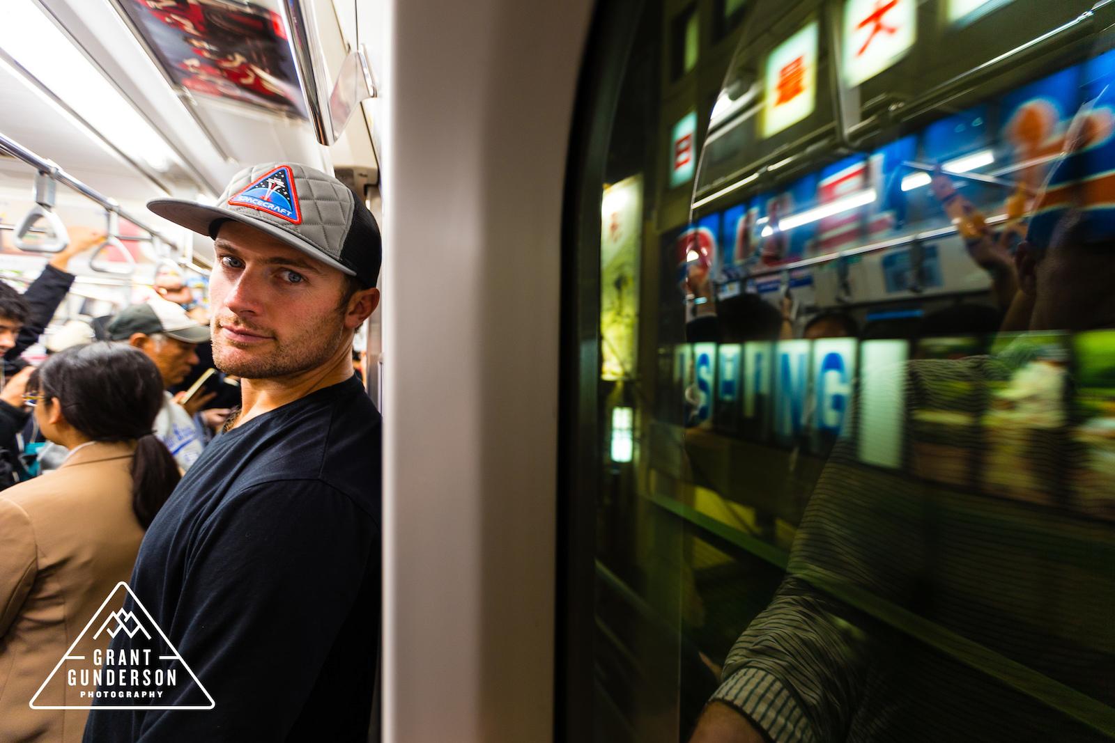 KC Deane in the Tokyo Subaway