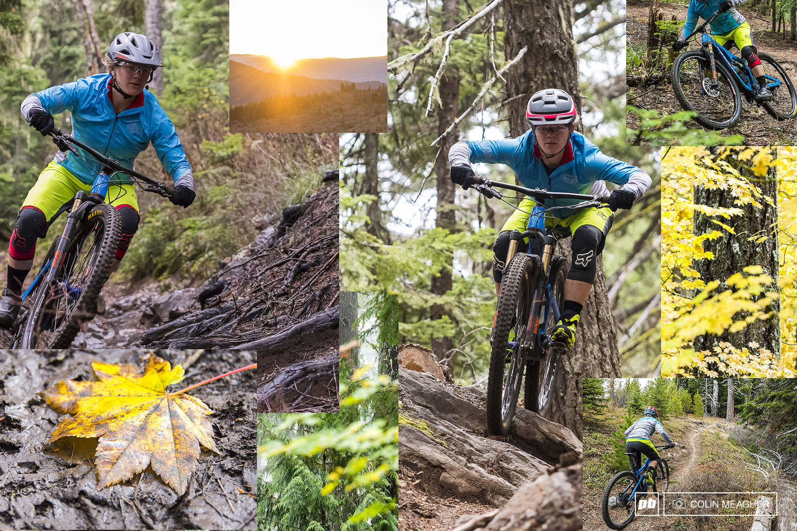 Nikki putting Foxhead s Diffuse Jacket and Lynx shorts to the test on some of the Hood River area trails.
