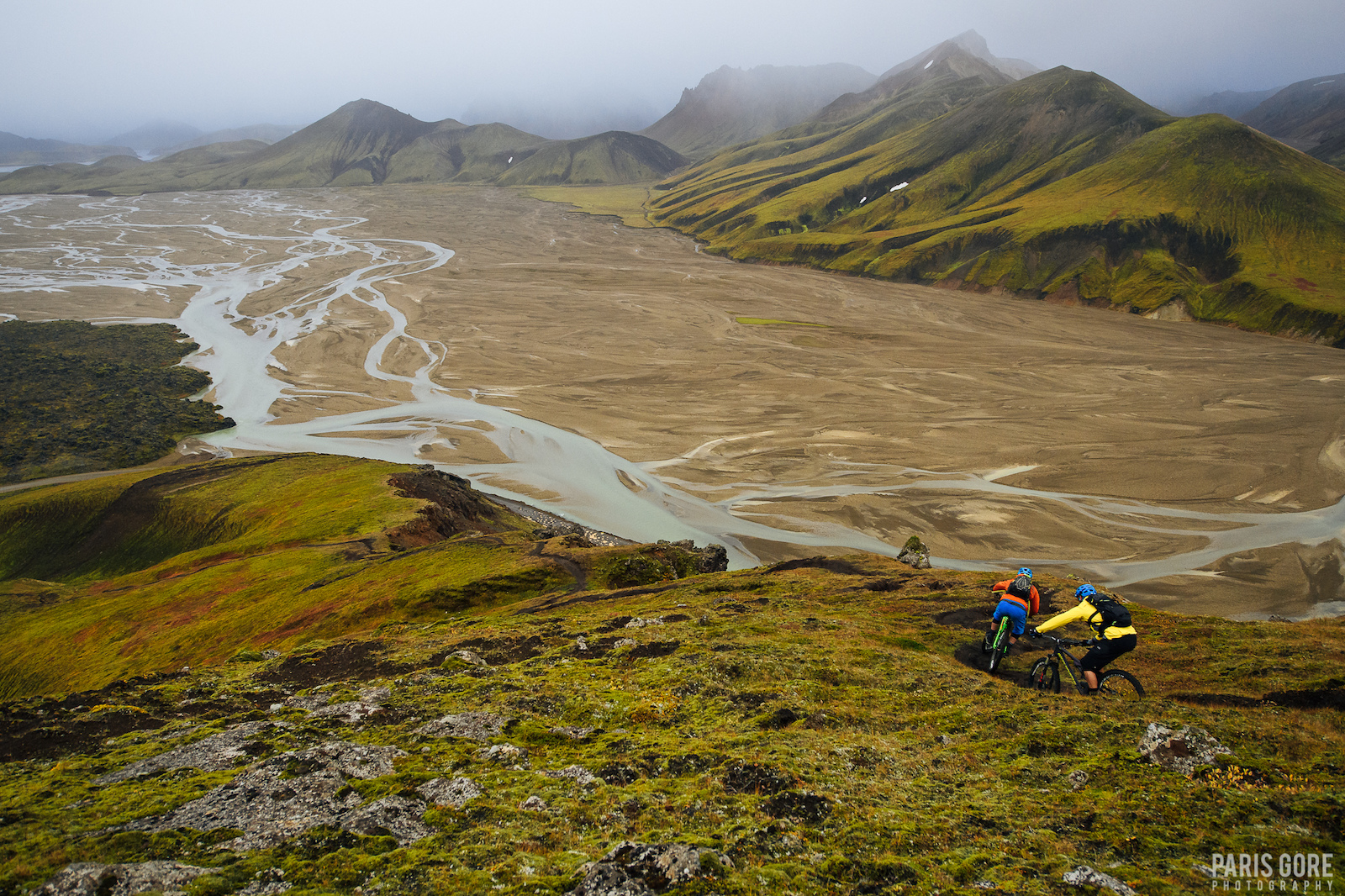 KC Deane and Gully in Landmannalaugar Iceland