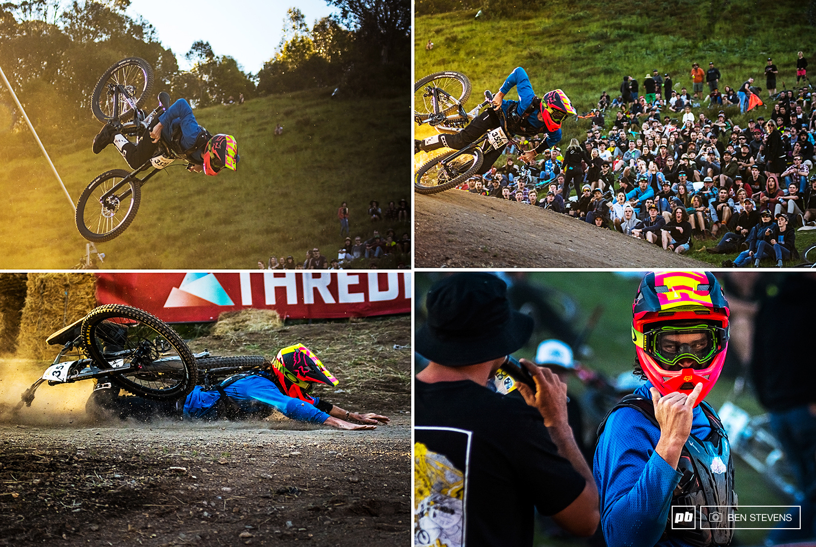 Ryan Dawson s attempt at a back flip in the Sram Whip Wars saw him superman across the dirt.
