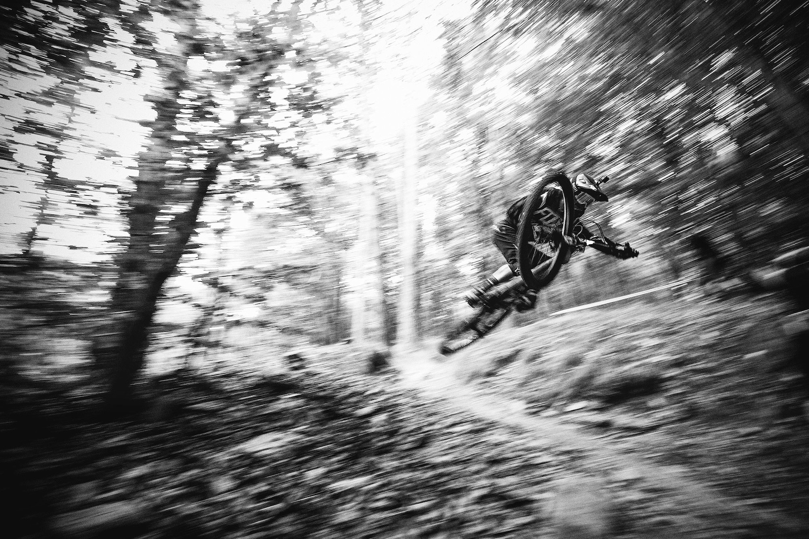 Mark Scott styling it through the forests of Finale Ligure.