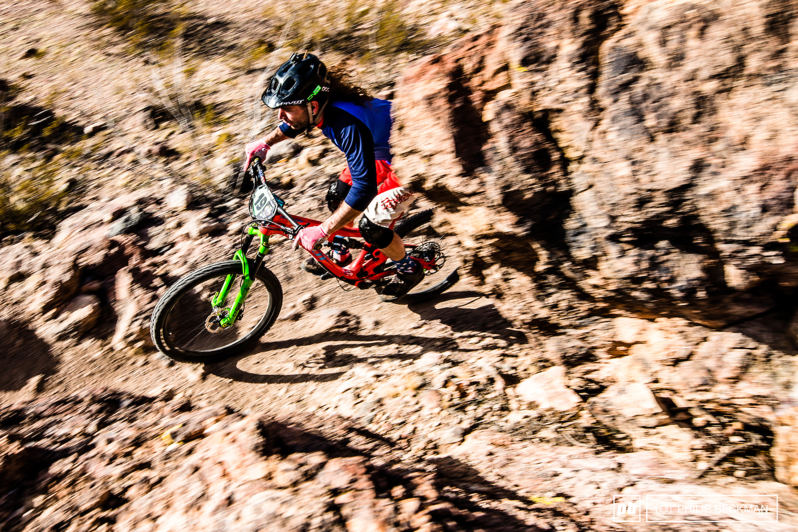 You do NOT want to crash at Bootleg. Vincent Kimber Pivot Truckerco navigates the typically sharp rocks during Super D.
