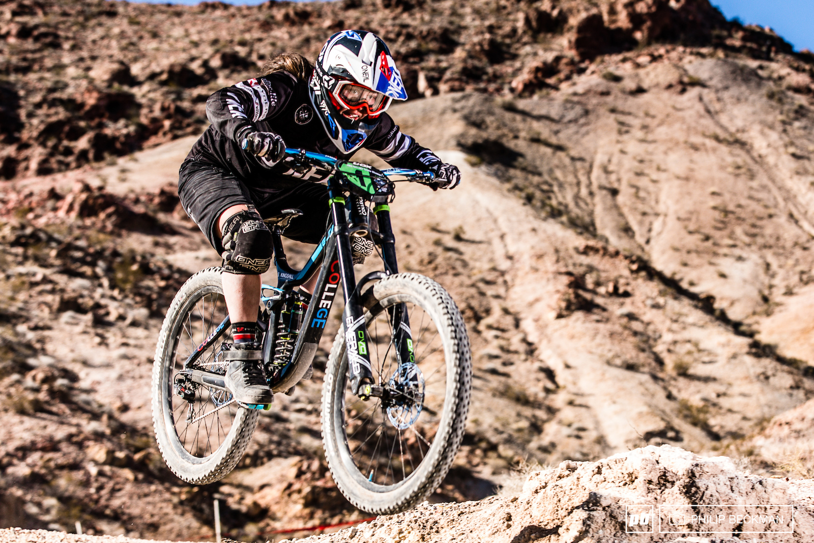 It was a good weekend for Samantha Kingshill College Cyclery O Neal going 3-1-1 in Super D Dual Slalom and Downhill respectively.