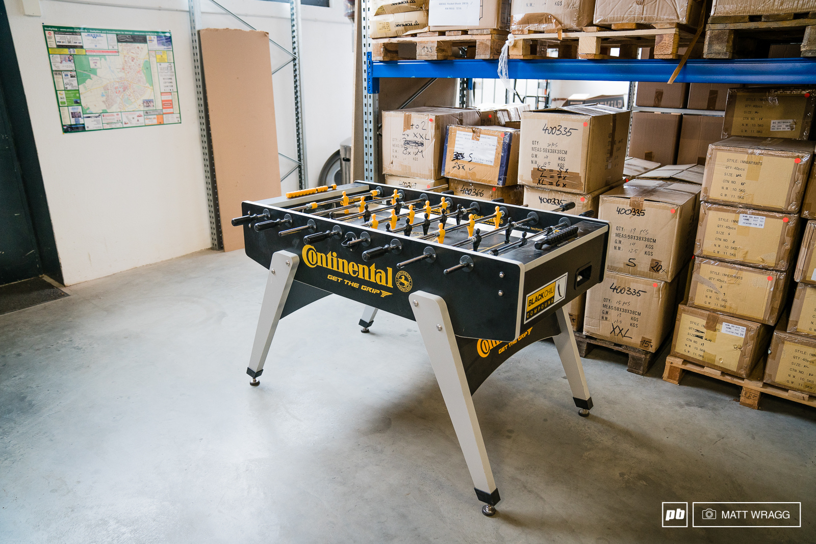 What German bike company would be complete without a Continental fussball table