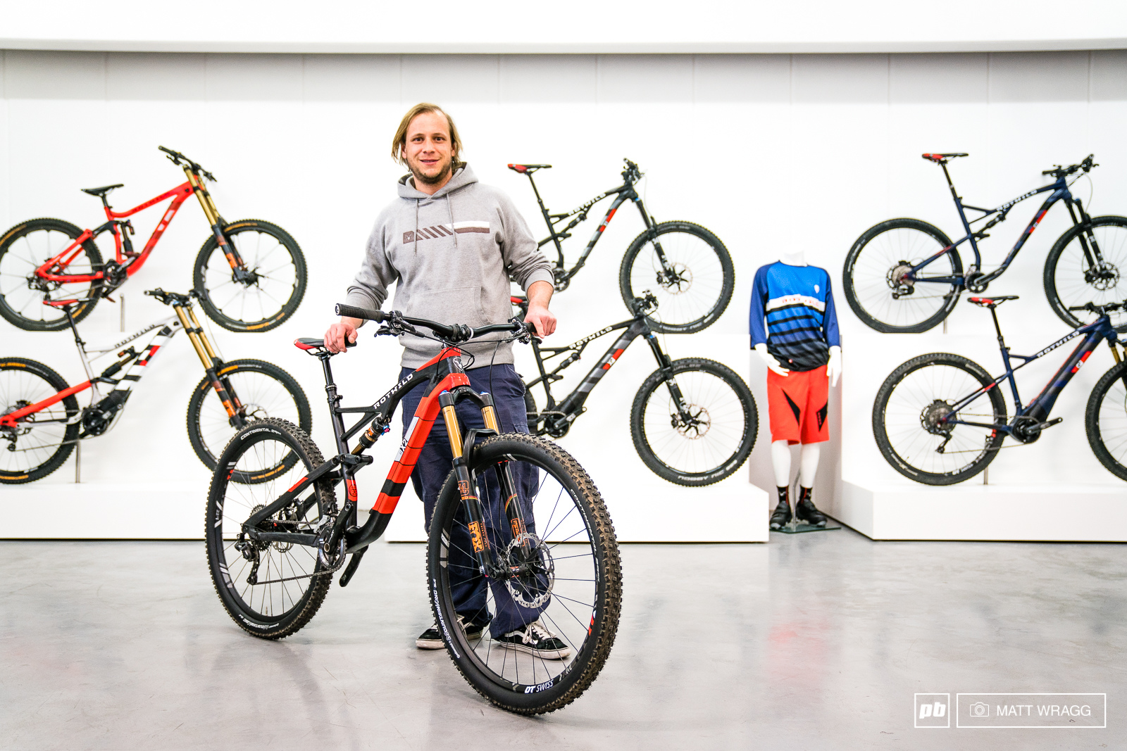 Stefan and his creation - the X2. He is the engineer responsible for this bike and took us through the fine details that make these bikes so special.