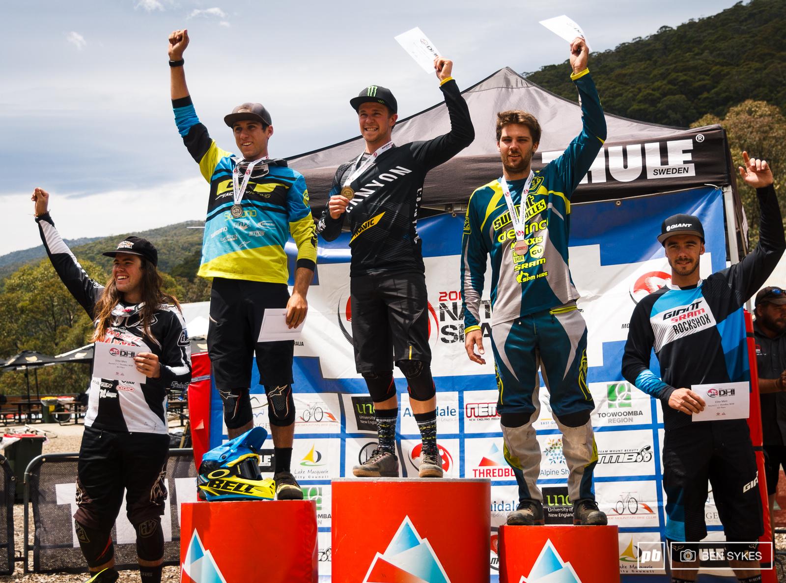 Eilte Men s podium.