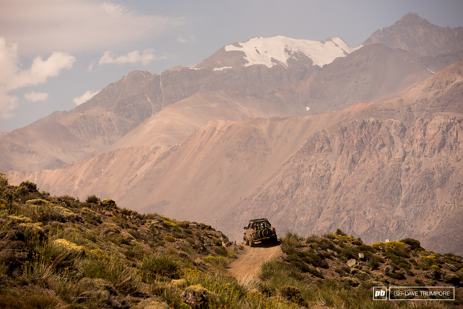 The 2400 meter drive to access the fresh terrain on day 3 was never short on epic views.