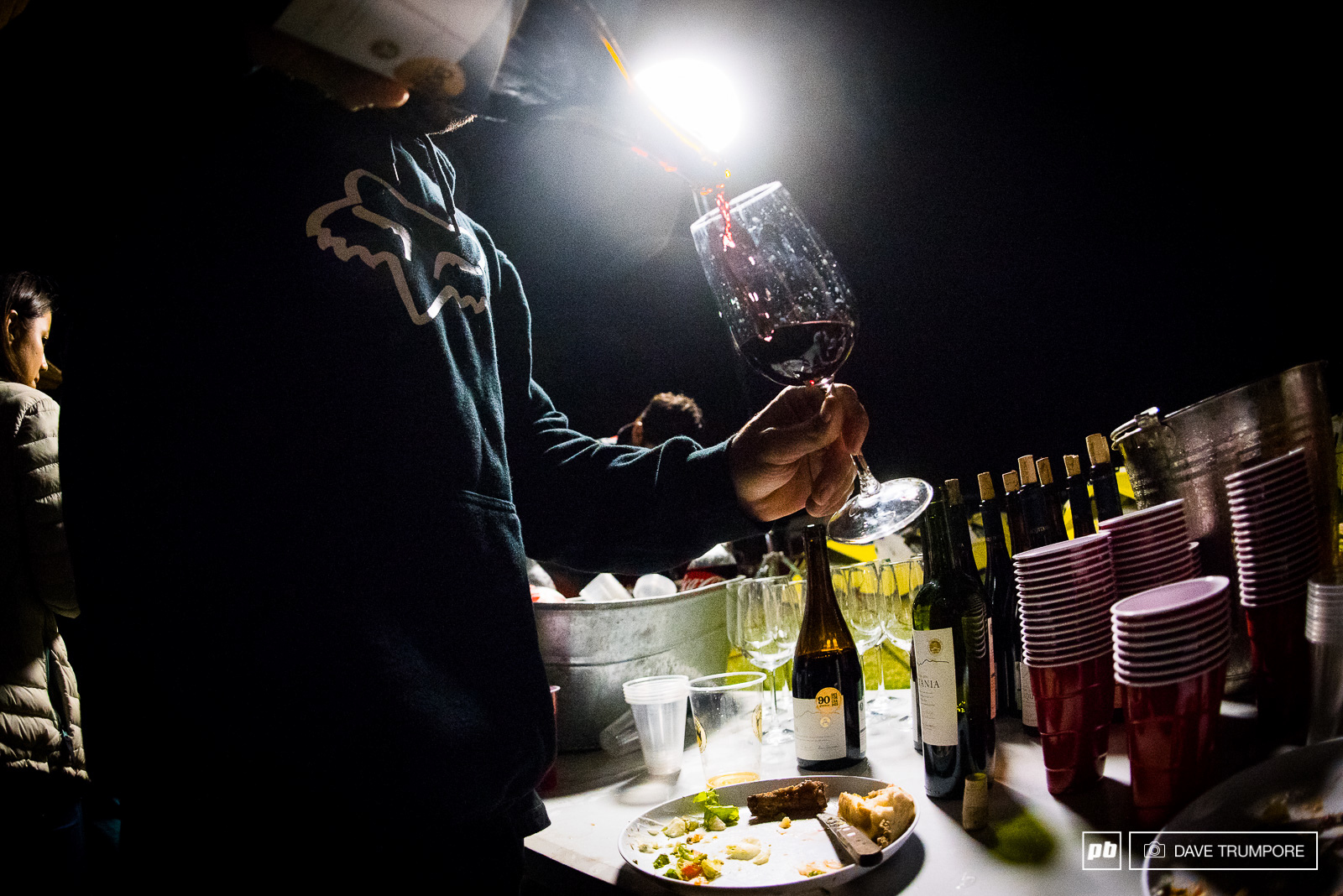 As with every night in camp the red wine was flowing plentifully.