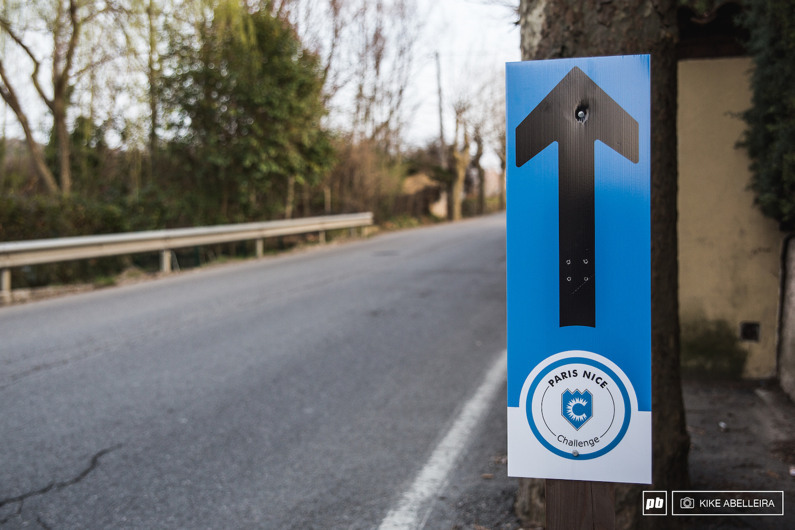It happens that this very same weekend the 2017 Paris Nice pro road cycling race reaches the region. We can t attend to the final stage though. This sign indicates that the sportive version passes through Levens.