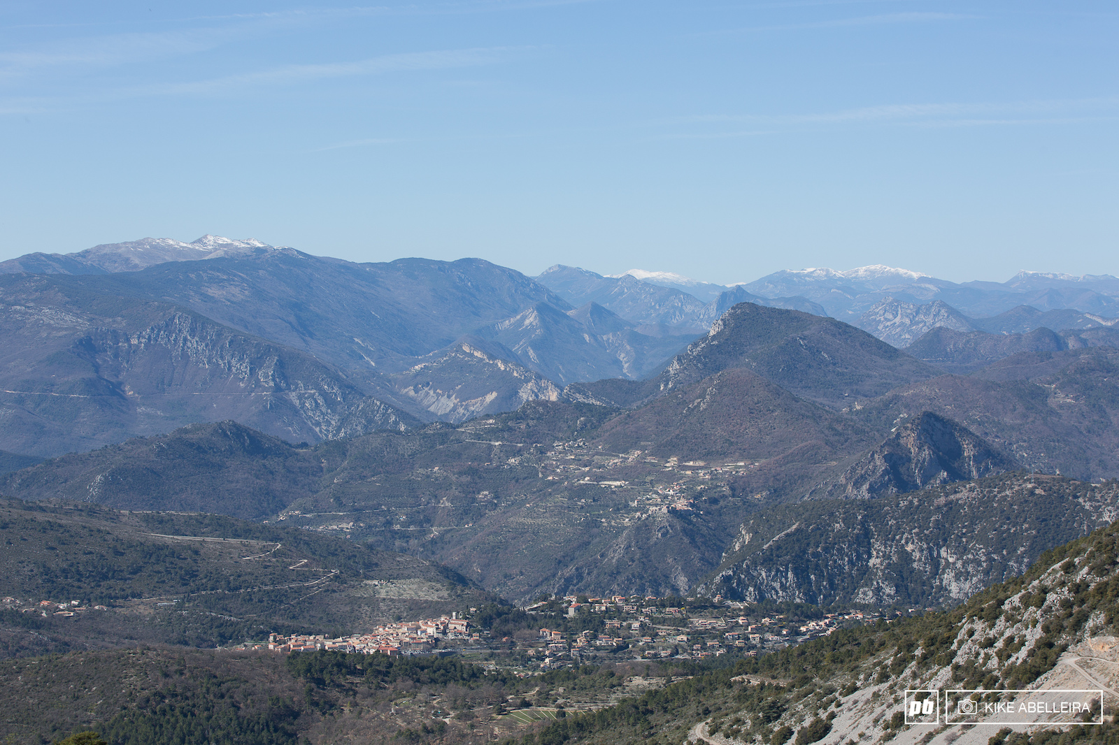 from Col du Dragon Levens and the mountains