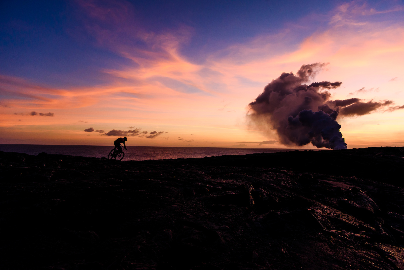 Sunsets and volcanoes in Oahu Image by Bruno Long
