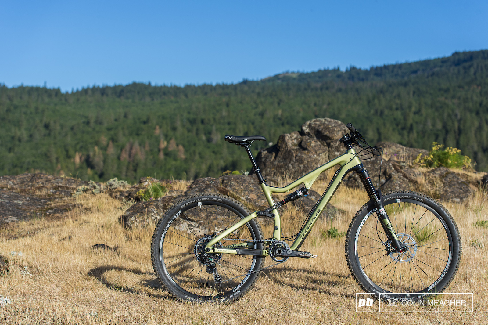 Vernon Felton testing bikes on the trails surrounding Hood River OR.