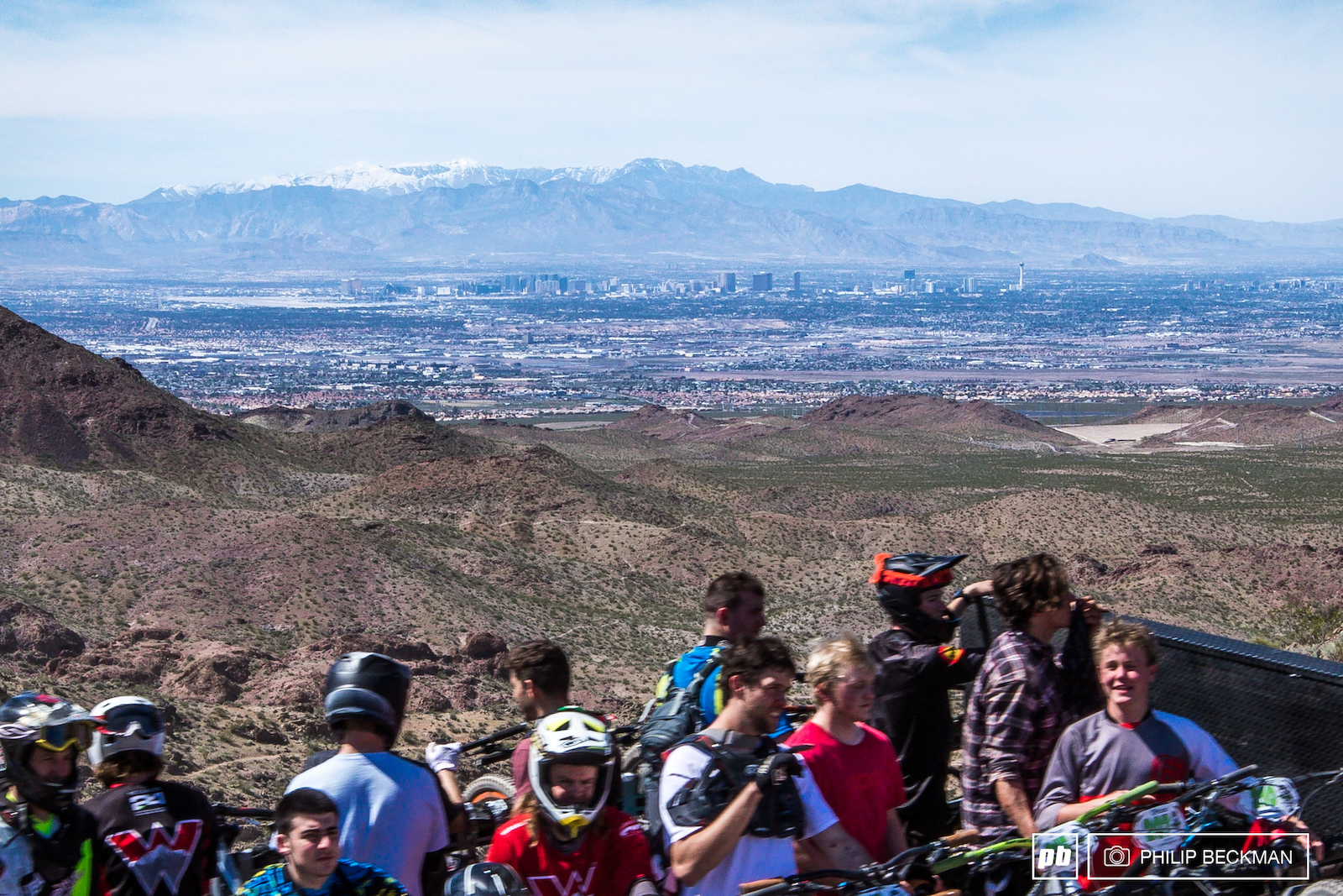 The shuttle run offered a sweeping view of the Las Vegas Strip and a snow-capped Mount Charleston.