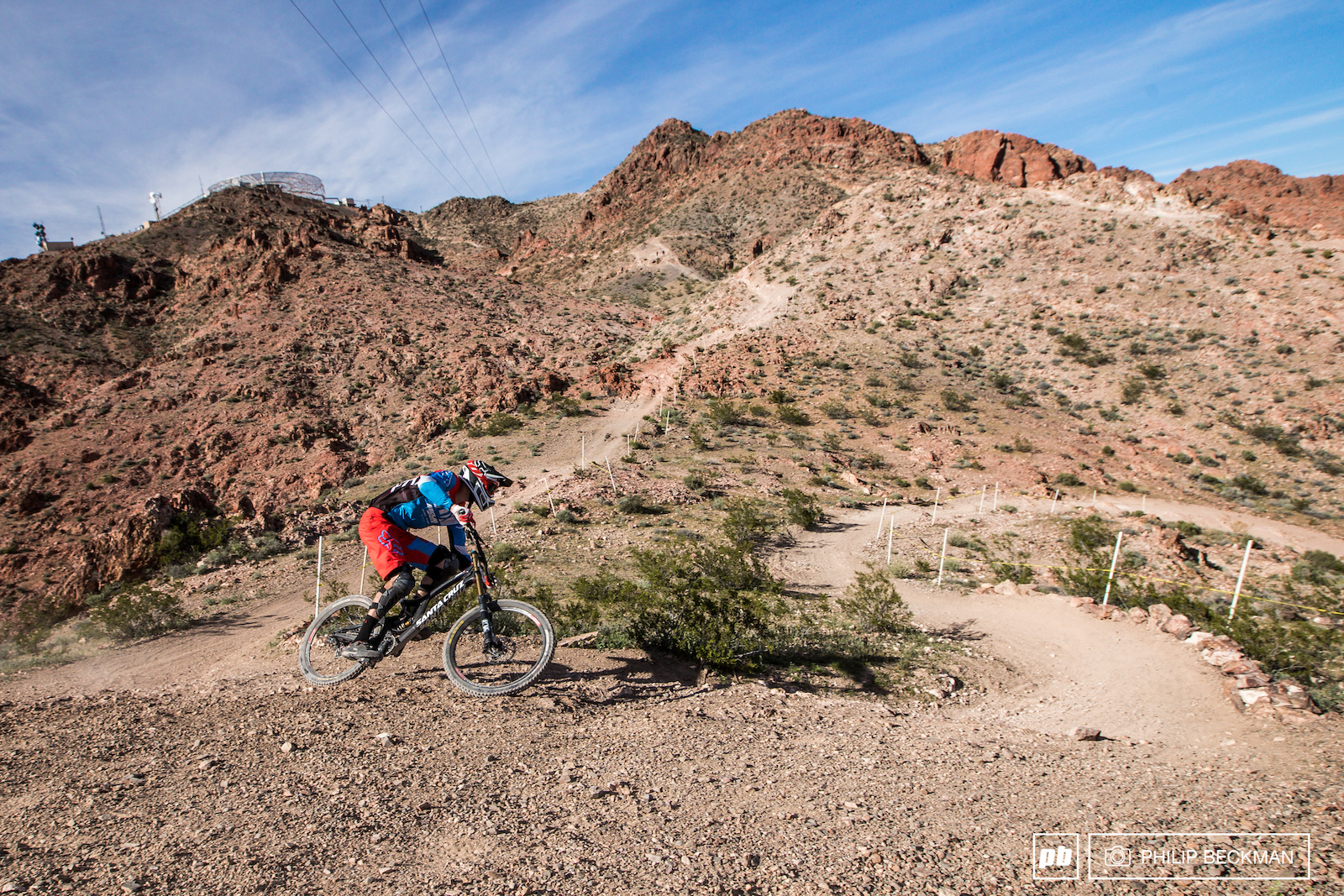 The Bootleg hill basically consists of two parts. The upper section is slow rocky steep and very technical. The lower section starting here is mostly wide-open desert singletrack.