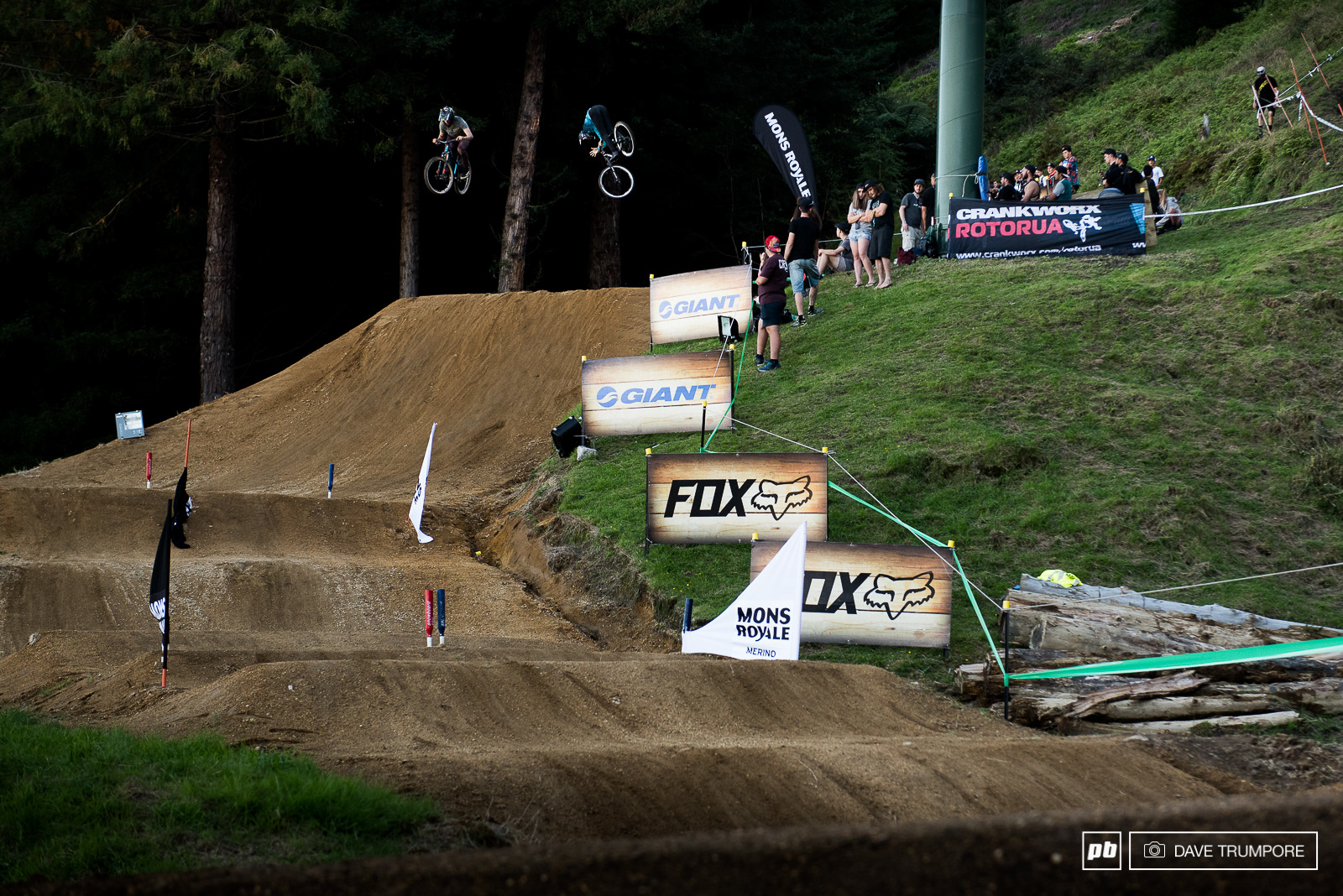 A mix of judged jumps for style and a dual slalom track for speed make up dual speed and style.