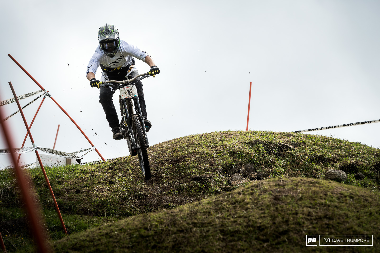 Some riders gapped this natural step-down while others kept it low and tidy.