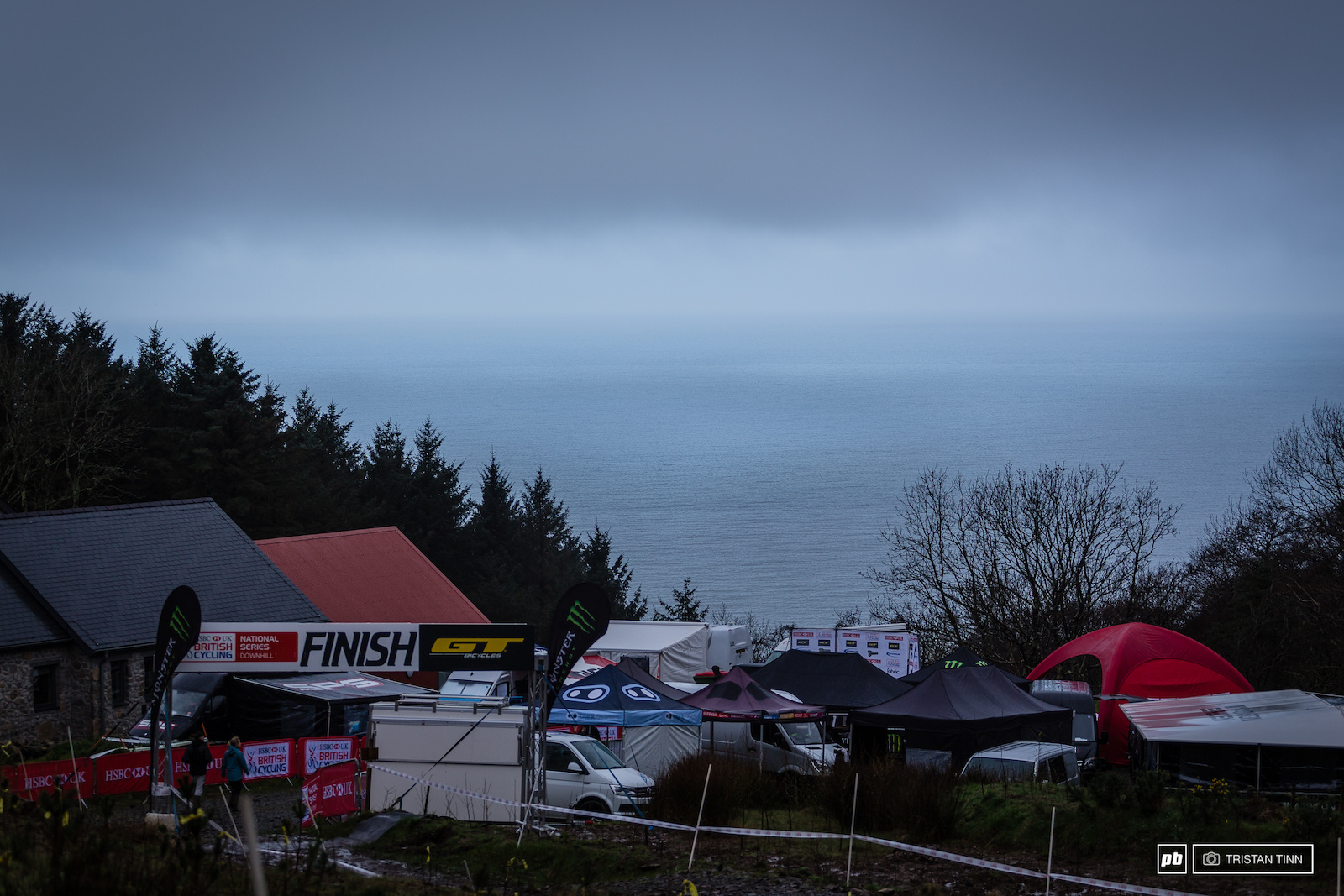The stunning views out over the sea from the finish at Nant Gwrtheyrn.