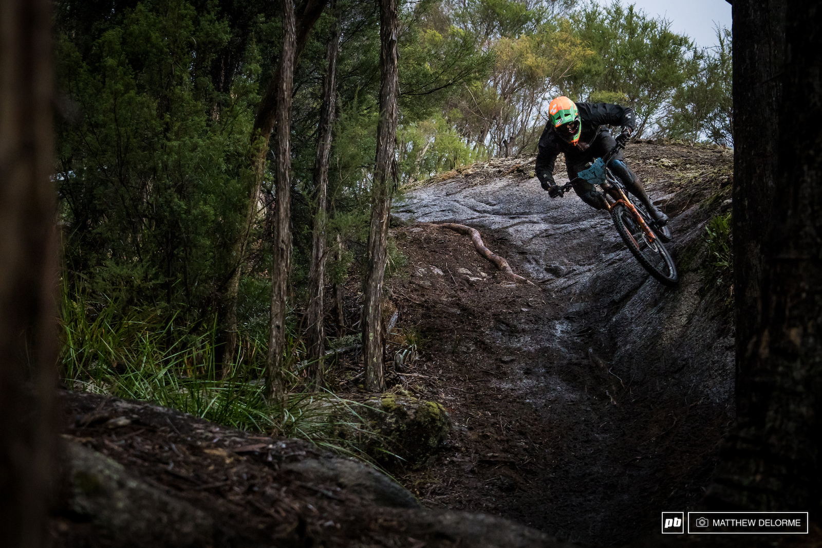 Greg Callaghan was on his way to another EWS win at this point on stage six. A slip up on seven cost him the win.