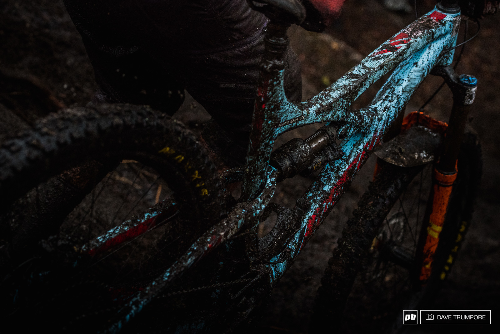 the near constant rain meant the mud was much less sticky than we saw in rotorua. And while it wasn t clogging tires and frames here the constant wet grit destroyed the brake pads of more than a few rides by days end.