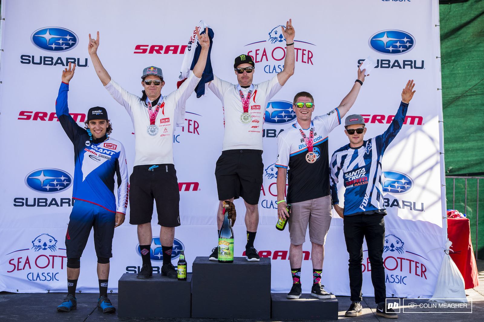 Pro Men s Podium L-R MacKay Veniza 4 Curtis Keene 2 Jared Graves 1 James Eves 3 Mark Scott 5 .