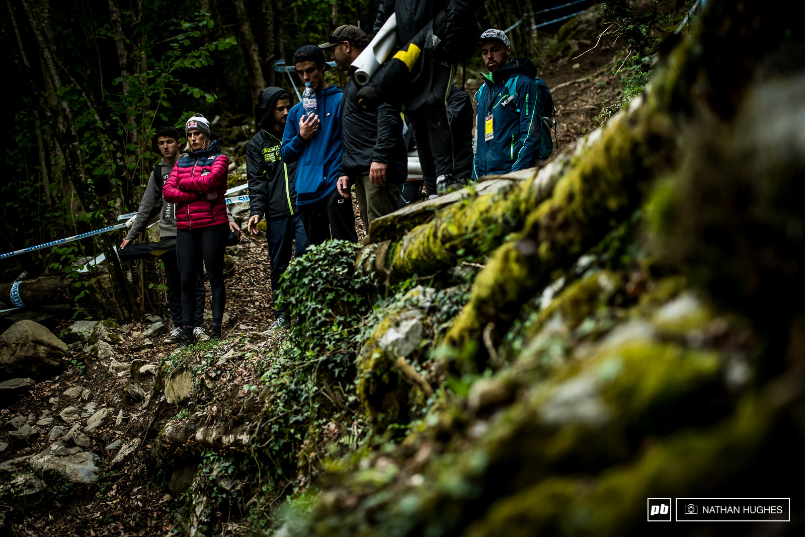 Myriam Nicole amongst the moss of the hipped step-down that has seen many a brutal fall over the last two years.