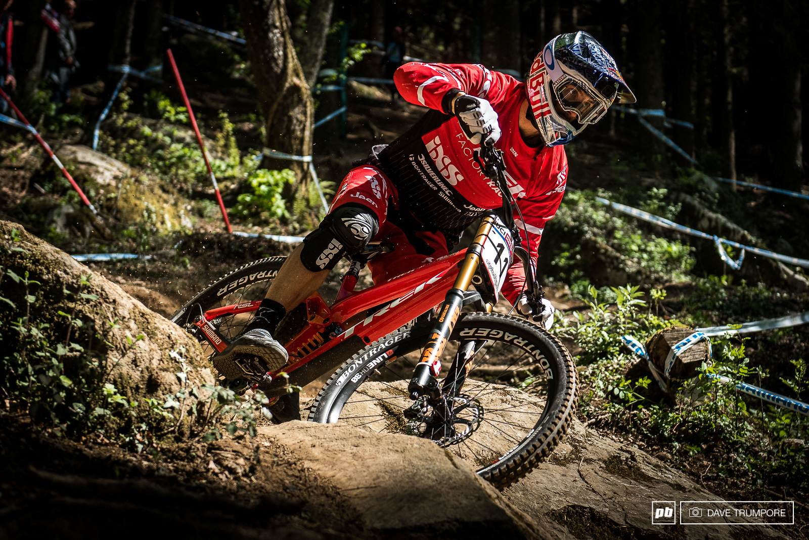 Gee Atherton was looking steady all day and would take the top time in the afternoon s timed session.