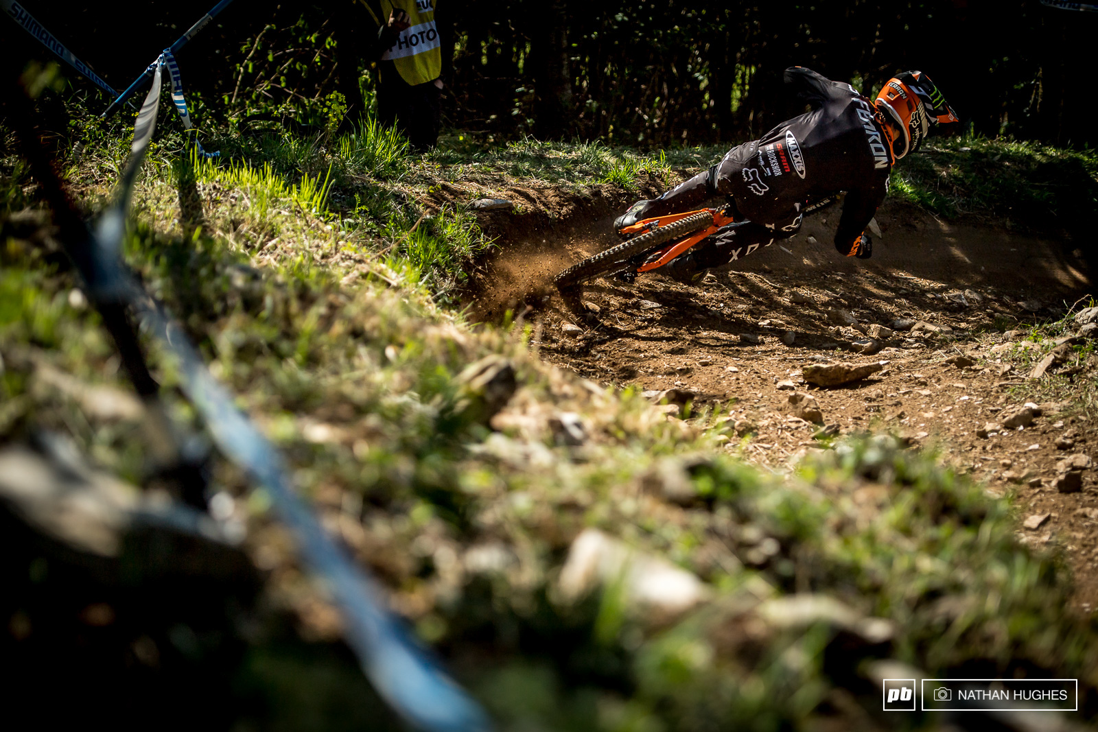 Connor Fearon may not have put down the quickest lap of the day but he definitely won practice in more than a few sections riding like an absolute animal.