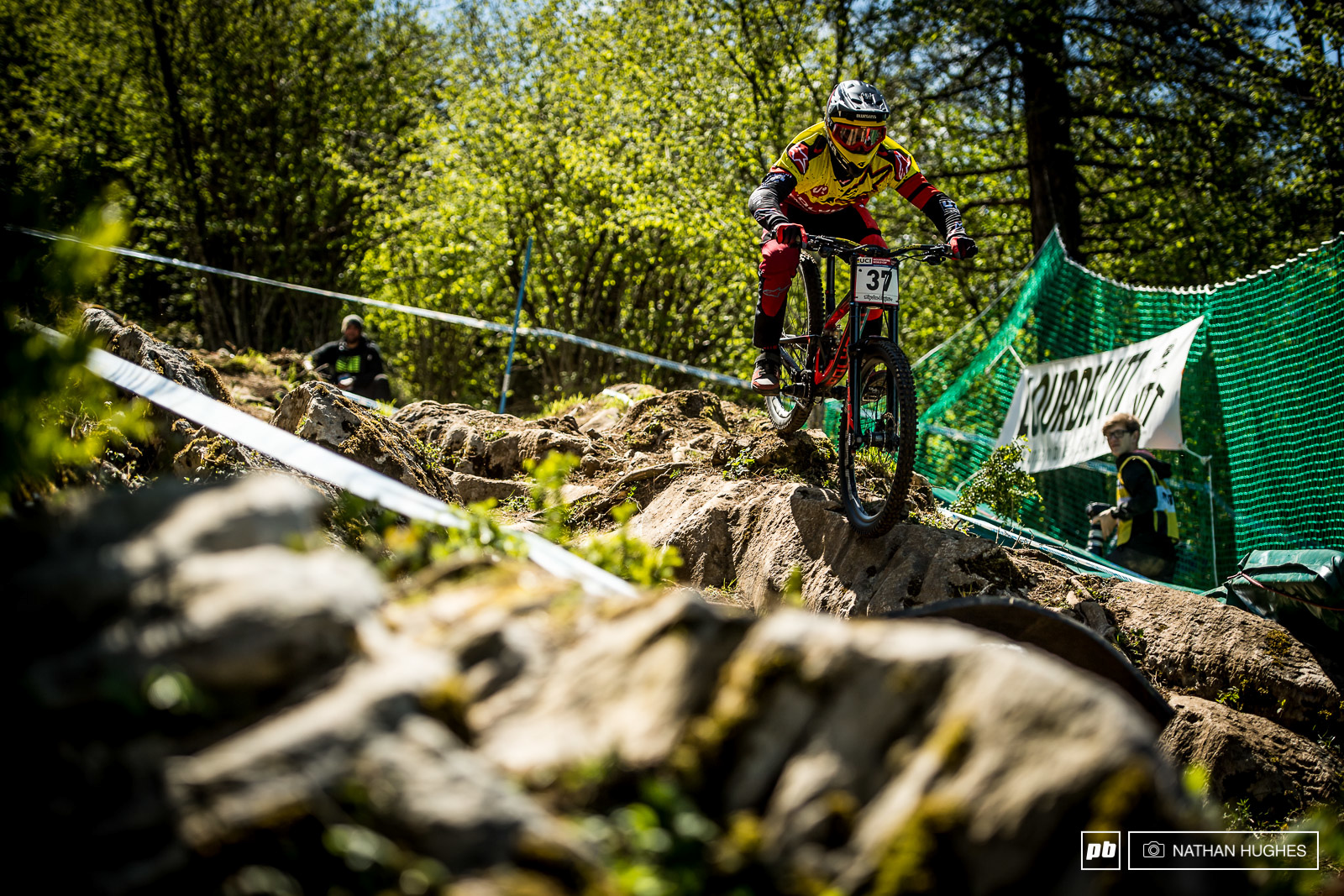 Polygon UR s Alex Fayolle was already in full attack mode this afternoon and would no doubt love a big result her in France.