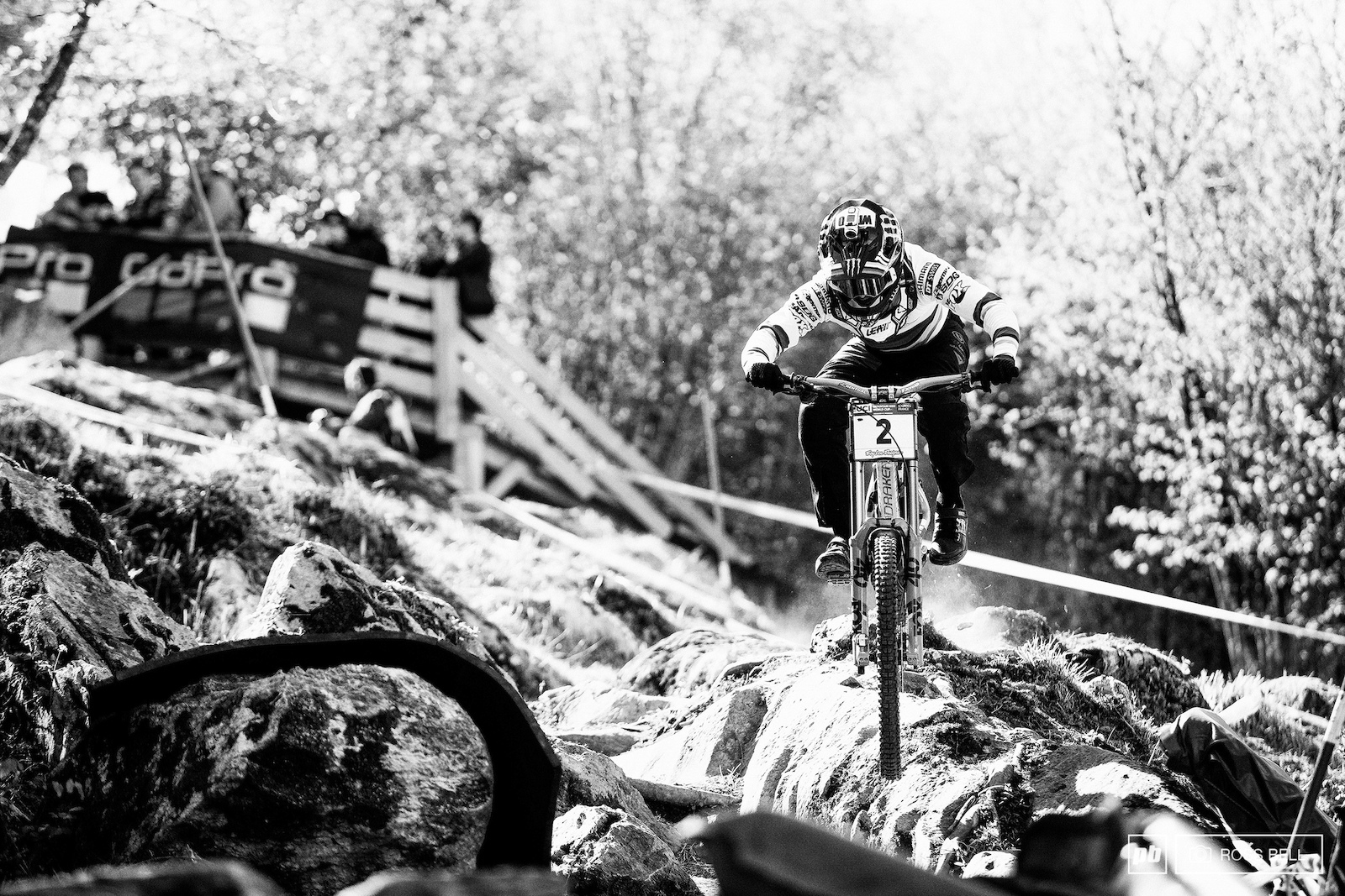 Danny exploding through one of the top rock gardens 4th place 0.6 back... Hart is well and truly in the hunt.