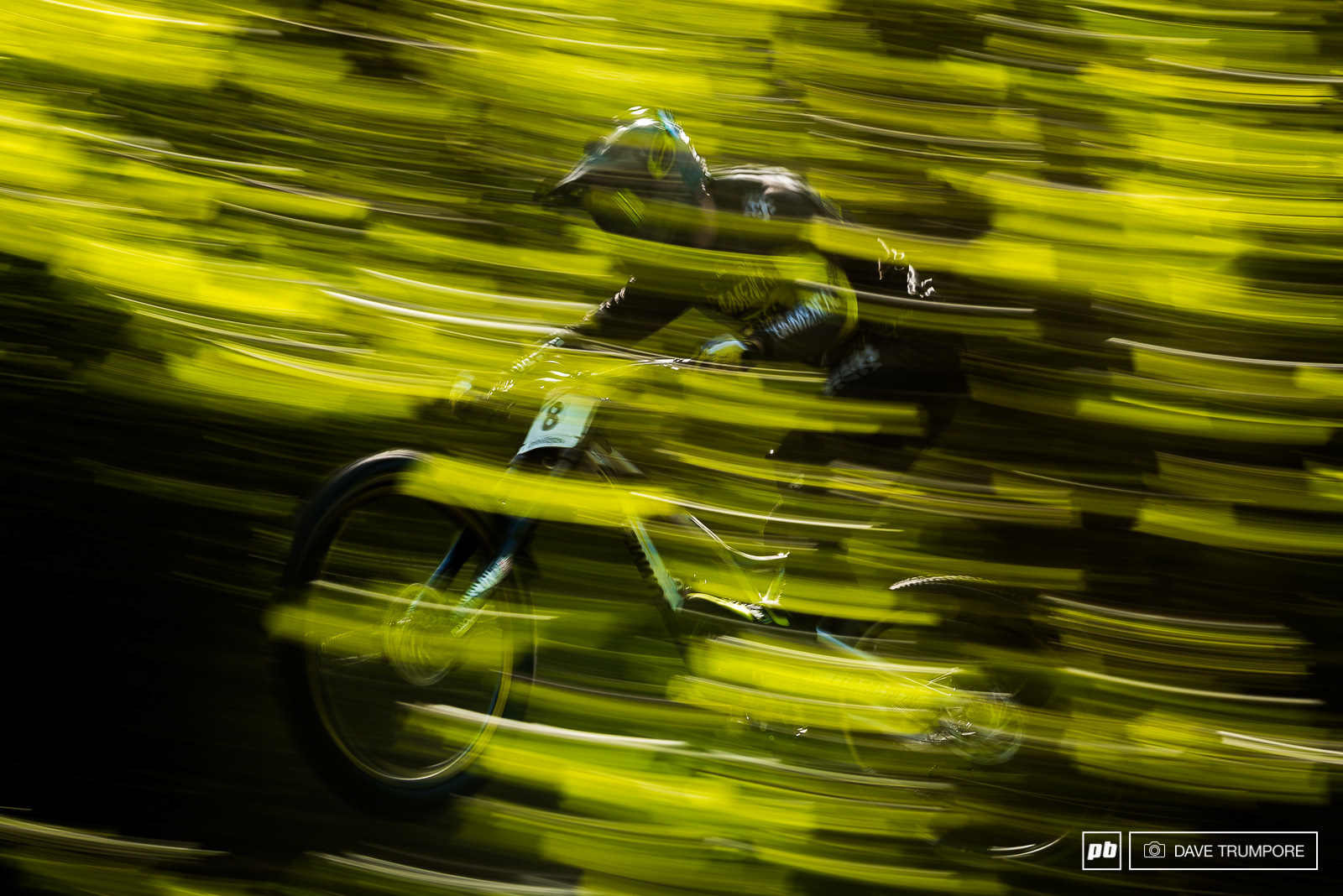 Remi Thirion at warp speed near the top of the track.