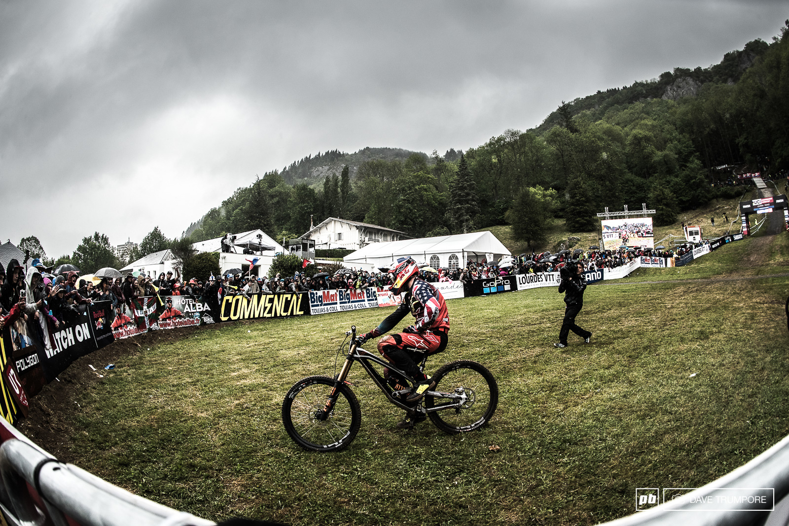 After winning here twice before a DQ is not what Aaron Gwin was after here in Lourdes.