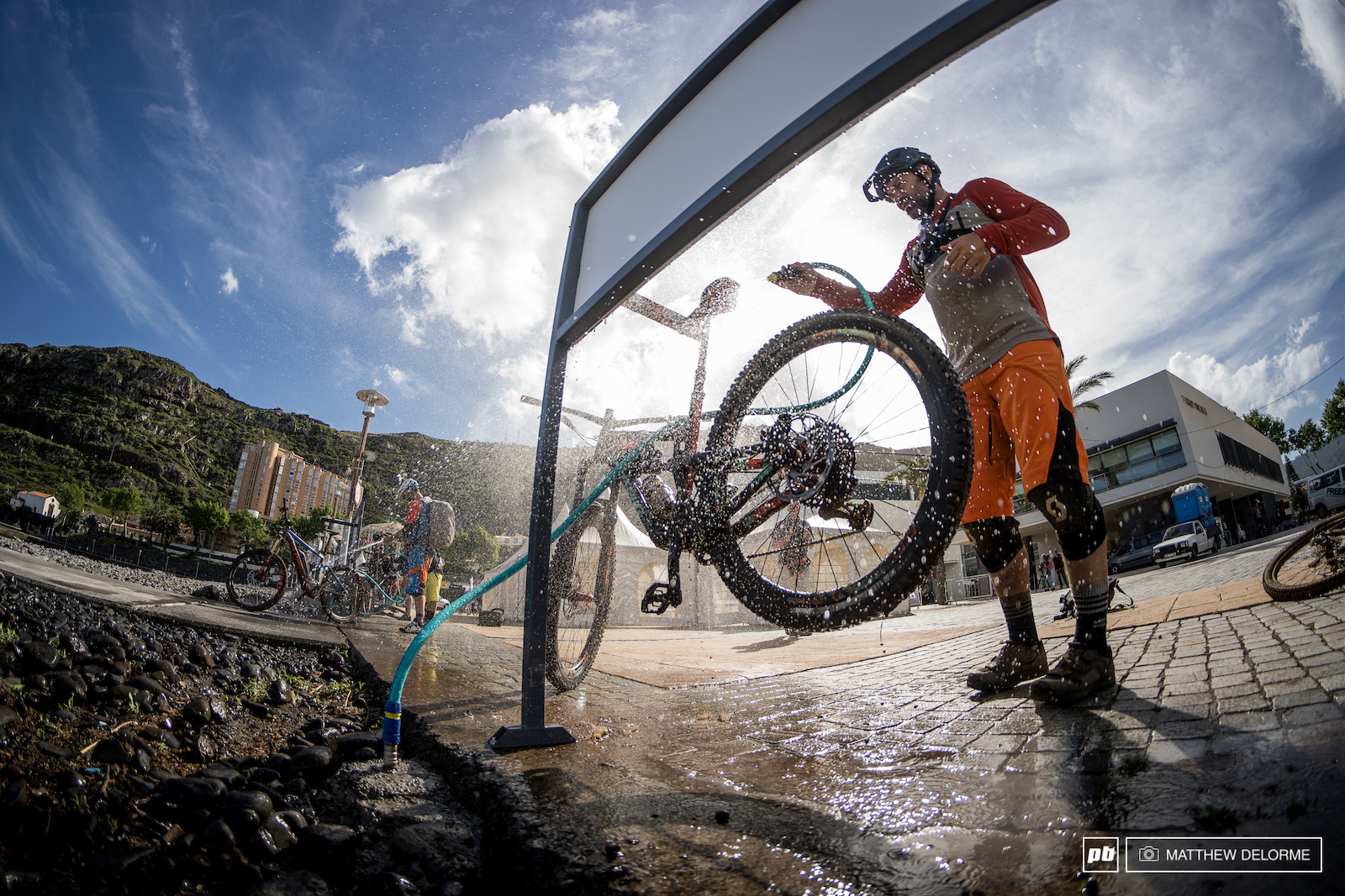 The bike washes will be incredibly busy if the top side weather keeps it up.