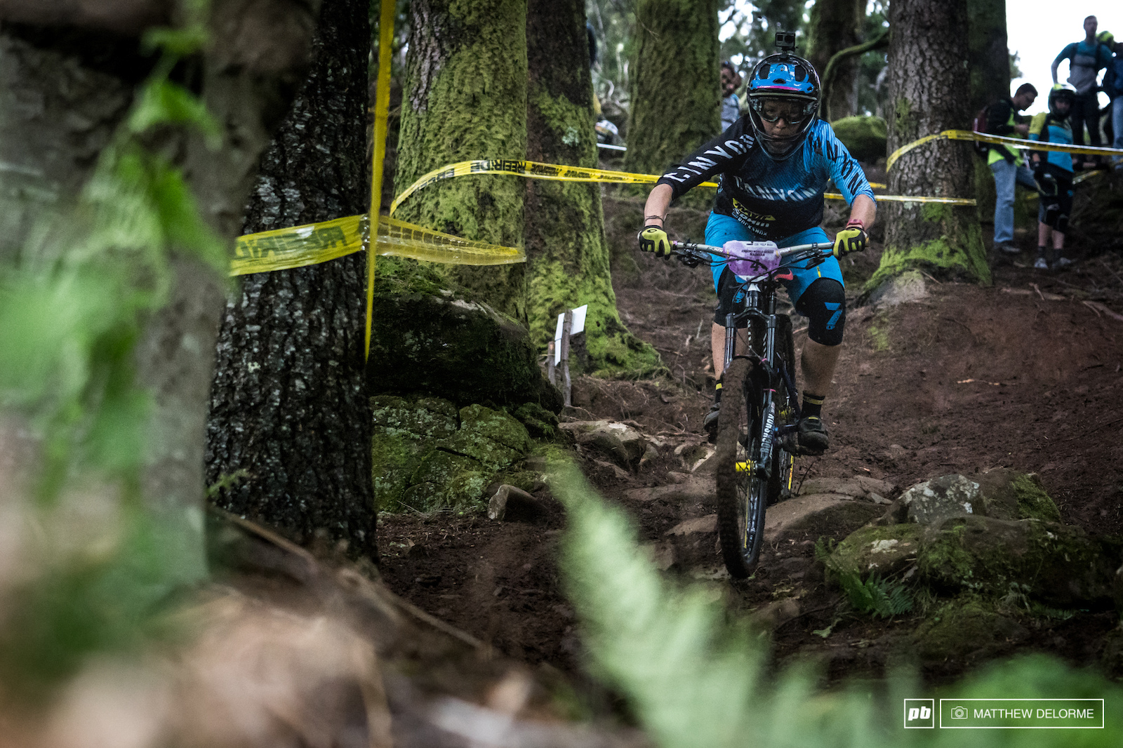 Ines Thoma navigating the steeps of stage six with no problems.