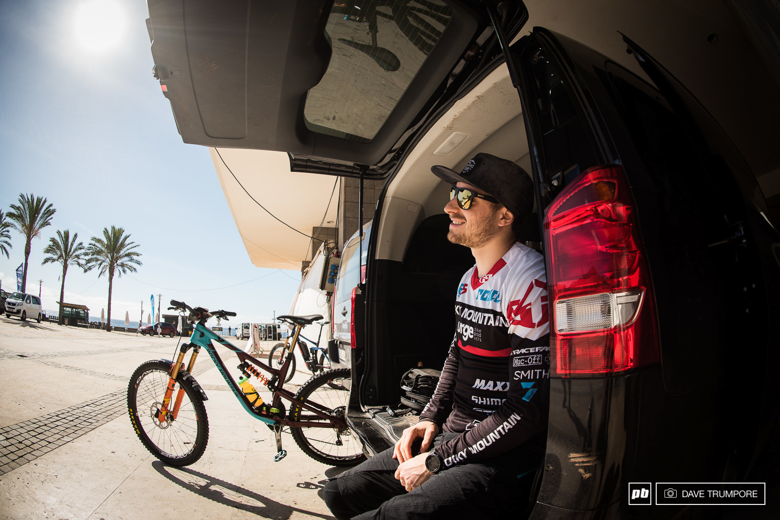 Calm and collected to start the day Jesse Melamed was in control of the race until unlucky stage number seven.
