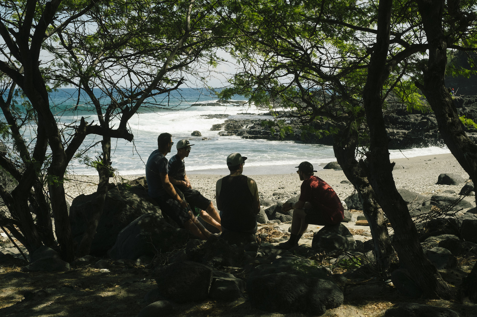 Bryn Atkinson Bas VanSteenbergen David Delassus Theo Booy on Reunion Island Indian Ocean