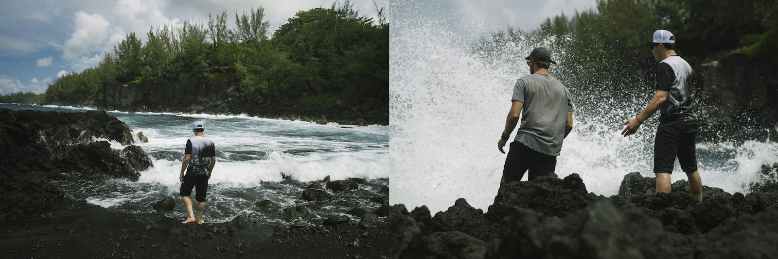 Bryn Atkinson Bas VanSteenbergen David Delassus Theo Booy on Reunion Island Indian Ocean